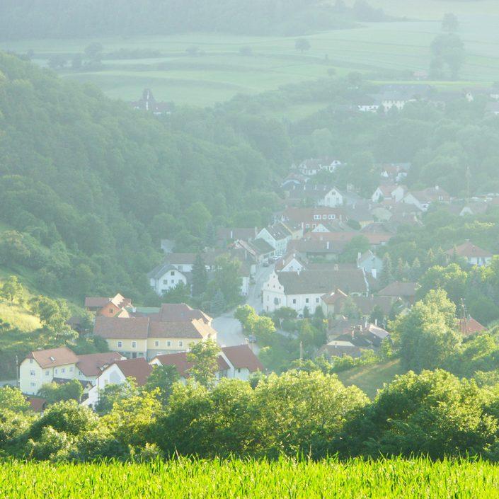 Blick auf Mühldorf von oben