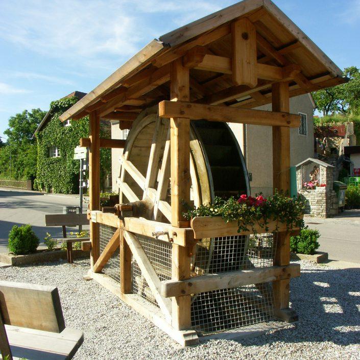 altes Wasserrad in Mühldorf